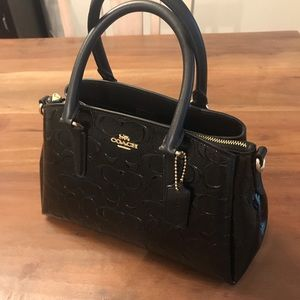 Coach Mini Carryall in Signature Leather - Black